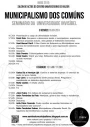 Cartaz Seminario Municipalismo